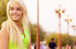 Lovely young girl relaxing Stock Image