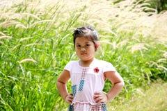 Lovely young girl. Lovely thai girl outdoor action Stock Photos