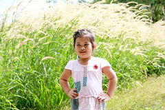 Lovely young girl. Lovely thai girl outdoor action Stock Photo