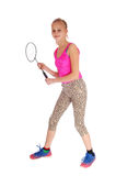 Lovely Young Girl With Tennis Racquet. Stock Image