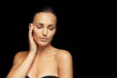 Lovely young lady with beautiful skin Royalty Free Stock Images