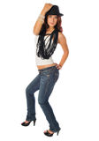 Lovely young teen beauty. On a white background Royalty Free Stock Image