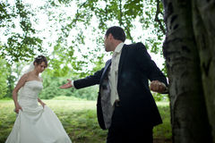 Lovely young wedding couple Royalty Free Stock Photography
