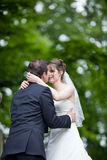 Lovely young wedding couple Stock Photography