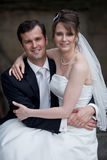 Lovely young wedding couple Royalty Free Stock Photo
