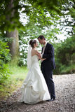 Lovely young wedding couple Royalty Free Stock Photos