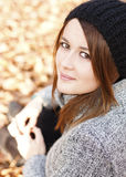 Lovely young woman. Autumn Stock Images