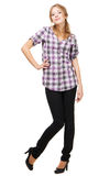Lovely young woman in casual clothing Royalty Free Stock Photo
