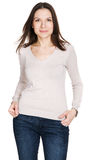 Lovely young woman in casual style clothing Royalty Free Stock Image