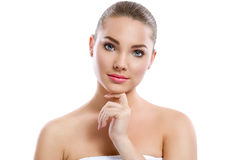 Lovely young woman with perfect skin Royalty Free Stock Image