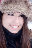 Lovely young woman smiling Stock Photo