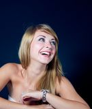 Lovely young woman smiling Stock Photography
