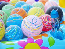 Lovely yoyo. Colorful water balloon at the summer festival in japan Stock Photos
