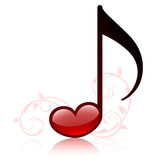 Lovemusic. Icon of music. Vector illustration Royalty Free Stock Image