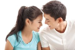 Lover�s talk Stock Image