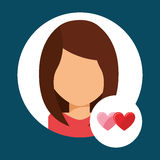 Lover avatar Royalty Free Stock Image