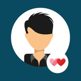 Lover avatar Royalty Free Stock Photos