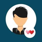 Lover avatar Royalty Free Stock Photos