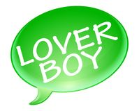 Lover boy bubble Stock Image