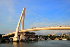 Lover Bridge of Tamsui Fisherman's Wharf Stock Photography