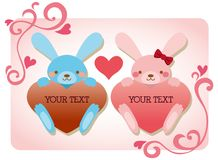 Lover bunnies Stock Photos