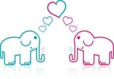 Lover Elephants Royalty Free Stock Image