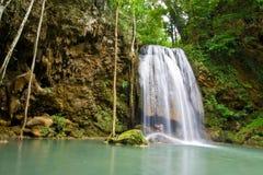 Lover at Erawan Waterfall Stock Photo