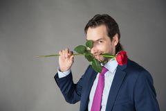 Lover with flower Royalty Free Stock Photos