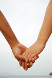 Lover hands together Royalty Free Stock Photo