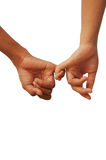 Lover hands together Stock Photo