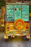 Lover is Khan - pakistani auto rickshaw Royalty Free Stock Images
