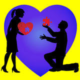 Lover proposing Royalty Free Stock Photo
