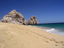 Lover's Beach Pacific Cabo. This is the Pacific side of Lover's Beach in Cabo San Lucas, Mexico royalty free stock photos