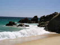 Lover's Beach Pacific Cabo Royalty Free Stock Images