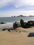 Lover's Beach Pacific Cabo Stock Photos