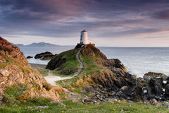 Lover's Island Lighthouse, Angelsey Royalty Free Stock Images