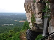 Lover`s leap at Rock City on Lookout Mountain in Chattanooga, TN royalty free stock photo