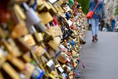 Lovers Locks in Paris Royalty Free Stock Photo