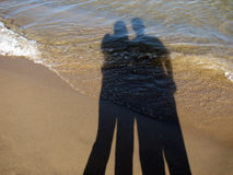 Lover's Shadow Royalty Free Stock Image