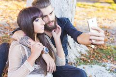 Lover selfies Royalty Free Stock Photo