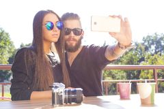 Lover selfies Royalty Free Stock Images