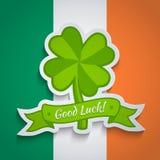 Lover sticker on Irish flag Stock Photos
