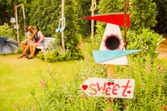 Lover sweet in garden  Royalty Free Stock Image