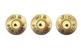 Lover weapons 9 mm. Caliber of weapon bullets icon. The rim and primer mall-arms cartridges, base cartridge. Caliber of weapon bul. Lets icon flat. Heart firing stock illustration