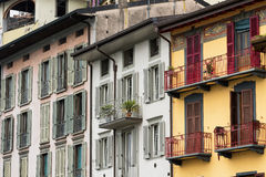 Lovere Bergamo, Italië, historisch vierkant royalty-vrije stock afbeelding