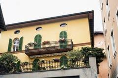 Lovere (Bergamo, Italy), historic house. Lovere (Bergamo, Lombardy, Italy): exterior of historic house royalty free stock photos