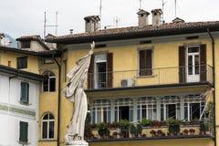 Lovere Bergamo, Italy, historic house. Lovere Bergamo, Lombardy, Italy: exterior of historic house royalty free stock photography