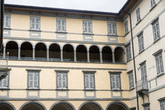 Lovere & x28; Bergamo, Italy& x29; , historisch paleis royalty-vrije stock afbeeldingen