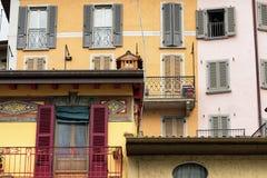 Lovere & x28; Bergamo, Italy& x29; , historisch vierkant royalty-vrije stock fotografie
