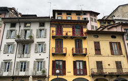 Lovere & x28; Bergamo, Italy& x29; , historisch vierkant royalty-vrije stock afbeelding